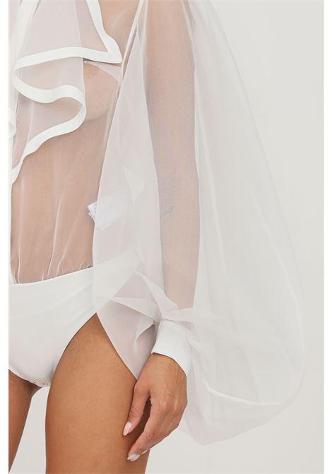 Camicia body donna bianco elisabetta franchi elegante ELISABETTA FRANCHI | Body | CB00818E2360