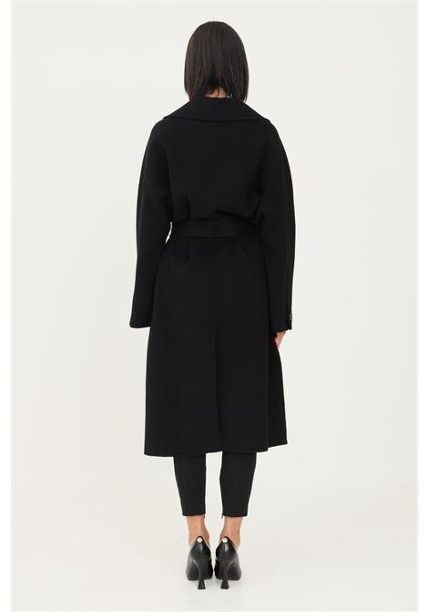 Cappotto vestaglia da donna nero elisabetta franchi taglio lungo ELISABETTA FRANCHI | Cappotti | CP33W16E2110