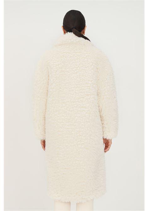 Cappotto burro da donna effetto montone Elisabetta Franchi ELISABETTA FRANCHI | Cappotti | CP37E16E2193