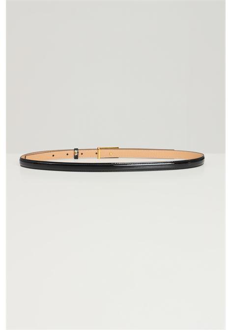 Cintura donna nero elisabetta franchi con fibbia oro ELISABETTA FRANCHI | Cinture | CT04S16E2110