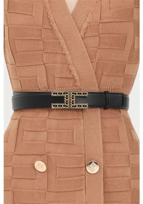 Cintura donna nero elisabetta franchi con fibbia gold ELISABETTA FRANCHI | Cinture | CT13S16E2110