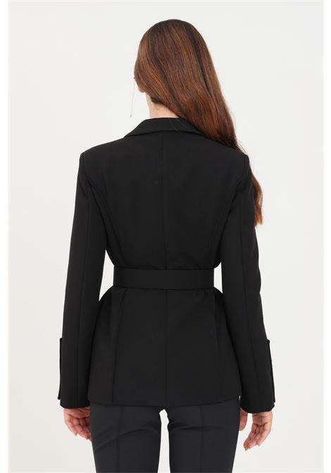 Giacca donna nero elisabetta franchi con cintura in vita ELISABETTA FRANCHI | Giacche | GI00916E2110