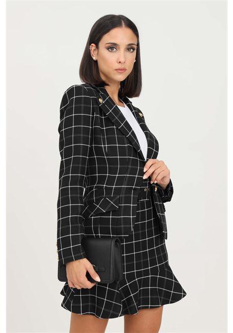 Black women's jacket by elisabetta franchi in fabric check design ELISABETTA FRANCHI | Blazer | GI96416E2110