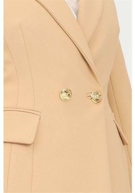 Giacca donna cammello elisabetta franchi con bottoni logati ELISABETTA FRANCHI | Giacche | GI97116E2470