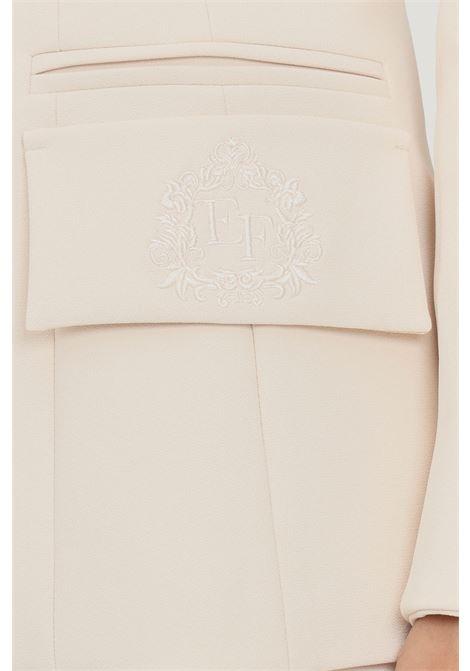 Butter women's jacket by elisabetta franchi with coat of arms embroidery ELISABETTA FRANCHI | Blazer | GI97216E2193