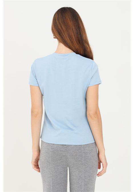 T-shirt donna celeste elisabetta franchi con applicazioni piercing ELISABETTA FRANCHI | T-shirt | MA20616E2Q80