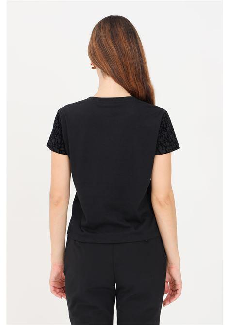 T-shirt donna nero elisabetta franchi con stampa lettering ELISABETTA FRANCHI | T-shirt | MA21216E2110