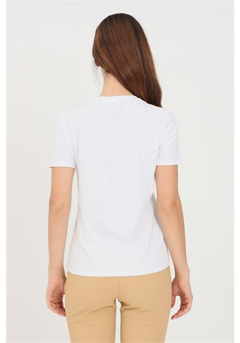 White women's t-shirt with charms by elisabetta franchi ELISABETTA FRANCHI | T-shirt | MA27N16E2270