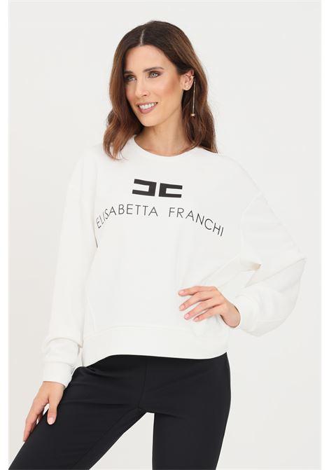 Ivory women's sweatshirt by elisabetta franchi ELISABETTA FRANCHI | Sweatshirt | MD00116E2309