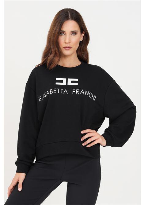 Black women's sweatshirt by elisabetta franchi ELISABETTA FRANCHI | Sweatshirt | MD00116E2685