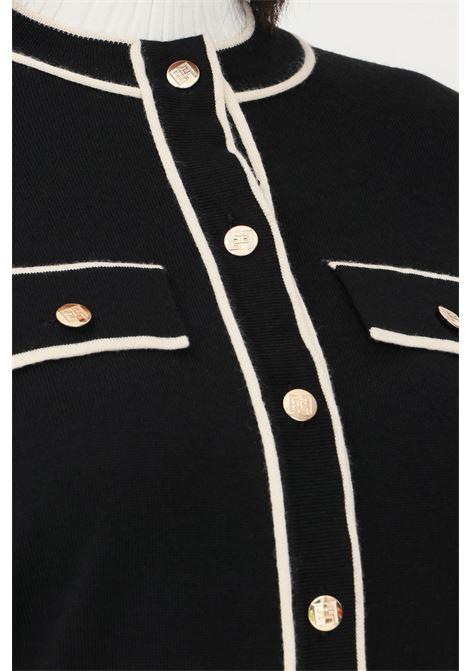 Cardigan donna nero elisabetta franchi con bottoni ELISABETTA FRANCHI | Cardigan | MK31S16E2685