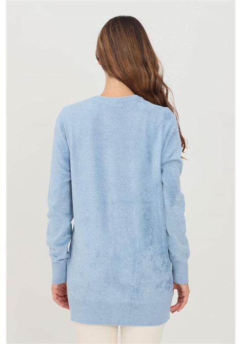 Cardigan donna blue elisabetta franchi effetto camoscio ELISABETTA FRANCHI | Cardigan | MK38S16E2Q80