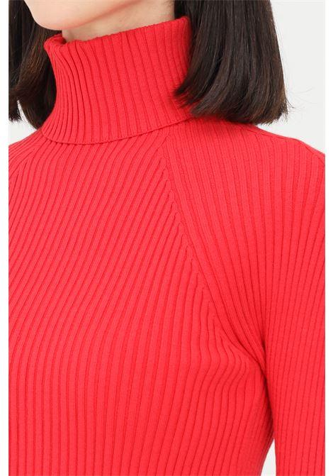 Maglioncino donna rosso elisabetta franchi a collo alto ELISABETTA FRANCHI | Maglieria | MK40T16E2D97