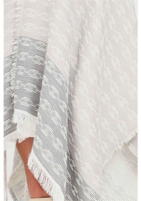 Mantella donna fantasia grigio perla fumo elisabetta franchi ELISABETTA FRANCHI | Mantelle | MT01F16E2AD6