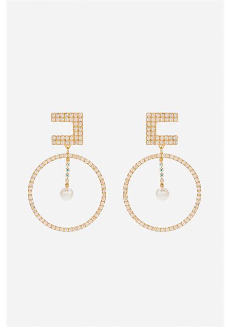 Orecchini donna color oro elisabetta franchi ELISABETTA FRANCHI | Bijoux | OR02A16E2610