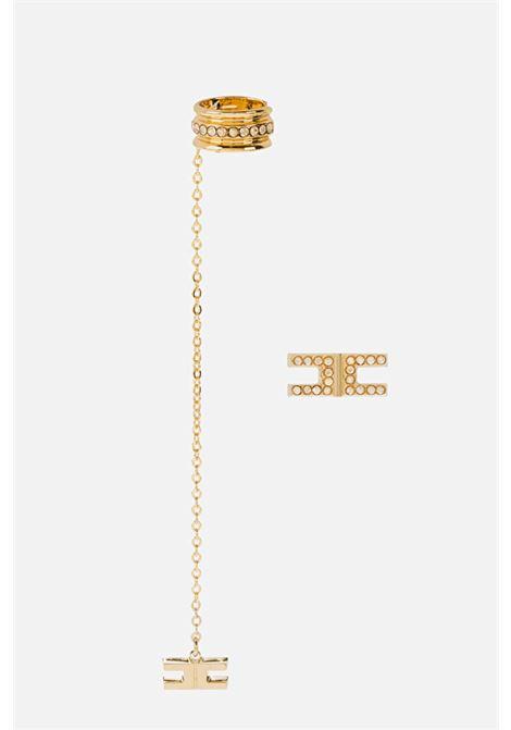 Orecchini donna pendenti oro elisabetta franchi ELISABETTA FRANCHI | Bijoux | OR09B16E2U95