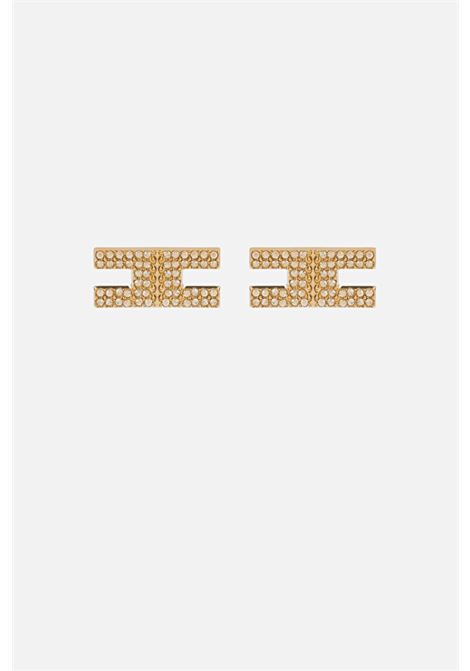 Orecchini donna color oro elisabetta franchi ELISABETTA FRANCHI | Bijoux | OR11B16E2U95