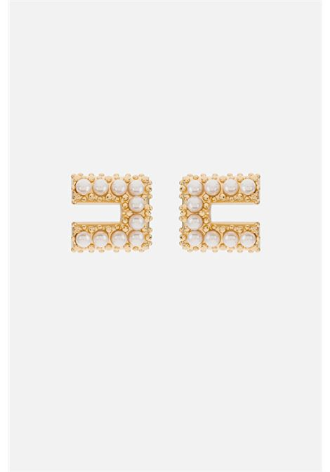 Orecchini donna color oro elisabetta franchi ELISABETTA FRANCHI | Bijoux | OR12B16E2U95