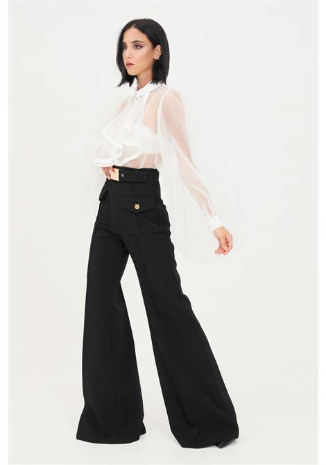 Black women's trousers by elisabetta franchi palace model ELISABETTA FRANCHI | Pants | PA01316E2110