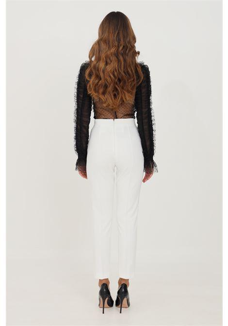 Ivory women's skinny essential trousers by elisabetta franchi elegant model ELISABETTA FRANCHI | Pants | PA38216E2360