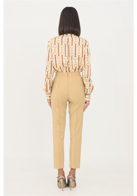Camel women's skinny essential trousers by elisabetta franchi elegant model ELISABETTA FRANCHI | Pants | PA38216E2470