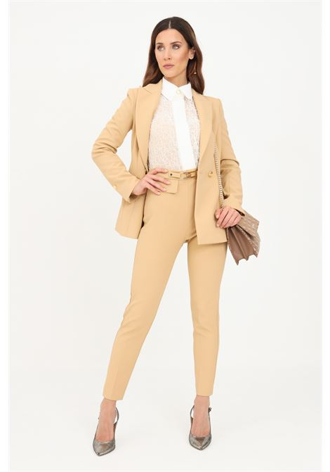 Pantalone cammello donna slim elisabetta franchi elegante ELISABETTA FRANCHI | Pantaloni | PA38616E2470