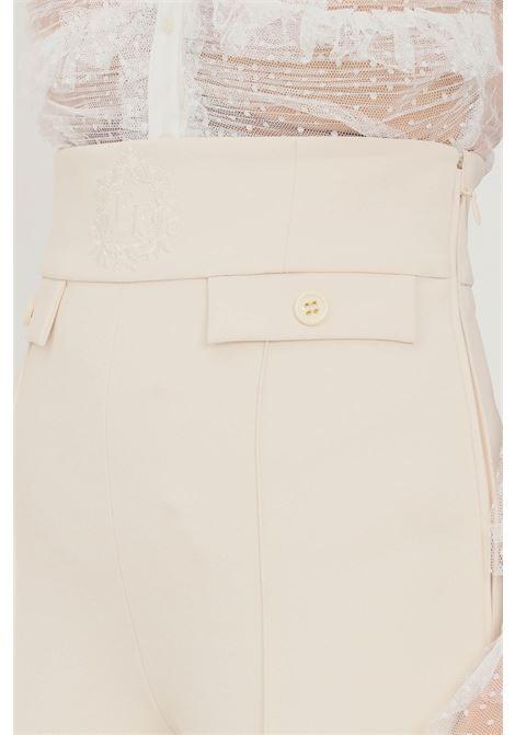 Butter women's trousers by elisabetta franchi high waist ELISABETTA FRANCHI | Pants | PA38816E2193