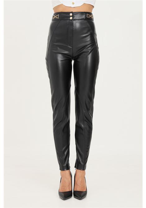 Black women's trousers by elisabetta franchi casual stretch model  ELISABETTA FRANCHI | Pants | PA39318E2110