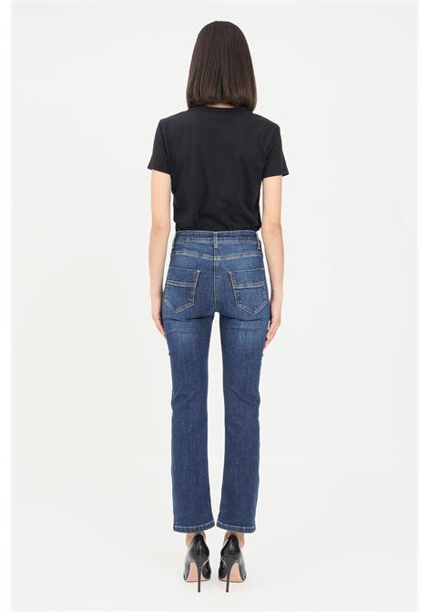 Jeans donna blue vintage elisabetta franchi con applicazioni oro ELISABETTA FRANCHI | Jeans | PJ17S16E2139