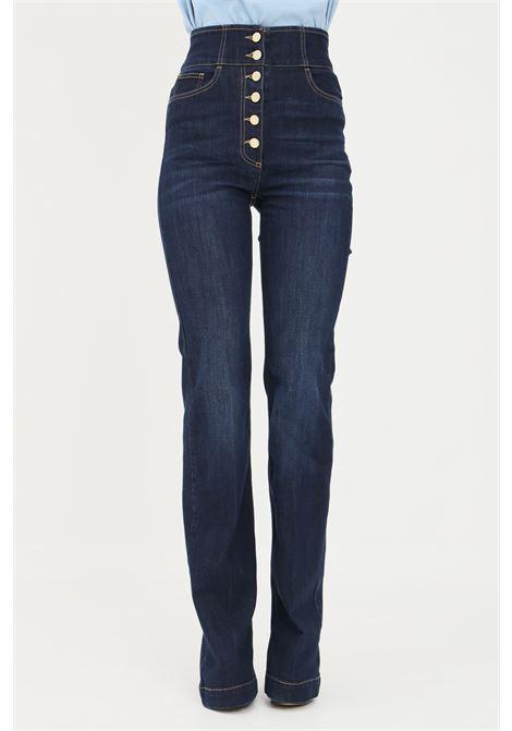Jeans donna elisabetta franchi con abbottonatura alta ELISABETTA FRANCHI | Jeans | PJ23S16E2139