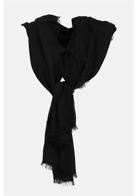 Women's scarf black elisabetta franchi scarf with tone-on-tone print ELISABETTA FRANCHI | Scarf | SC01F11E2110