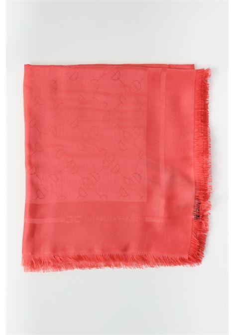Women's scarf amaranto elisabetta franchi scarf with tone-on-tone print ELISABETTA FRANCHI | Scarf | SC01F11E2620