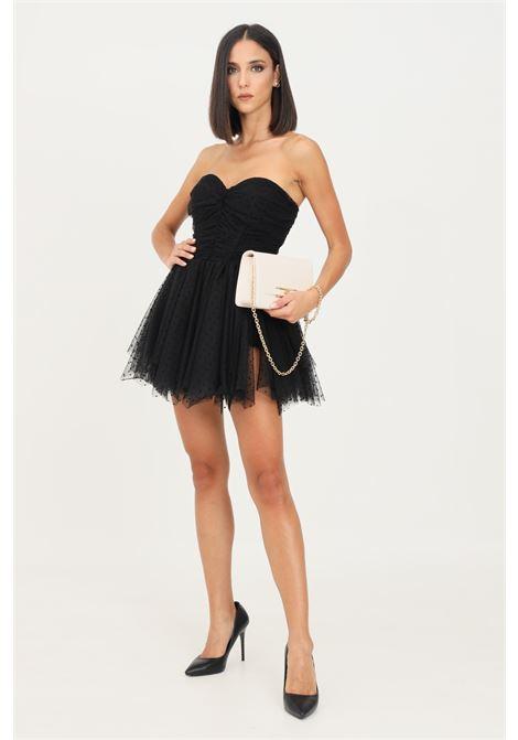 Black bustier jumpsuit by elisabetta franchi short cut ELISABETTA FRANCHI | Dress | TU00218E2110