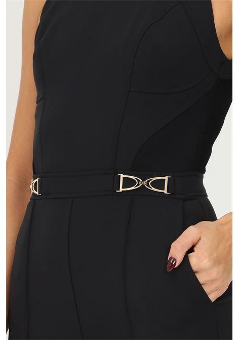 Tuta skinny donna nero con staffe oro Elisabetta Franchi ELISABETTA FRANCHI | Tute | TU26016E2110