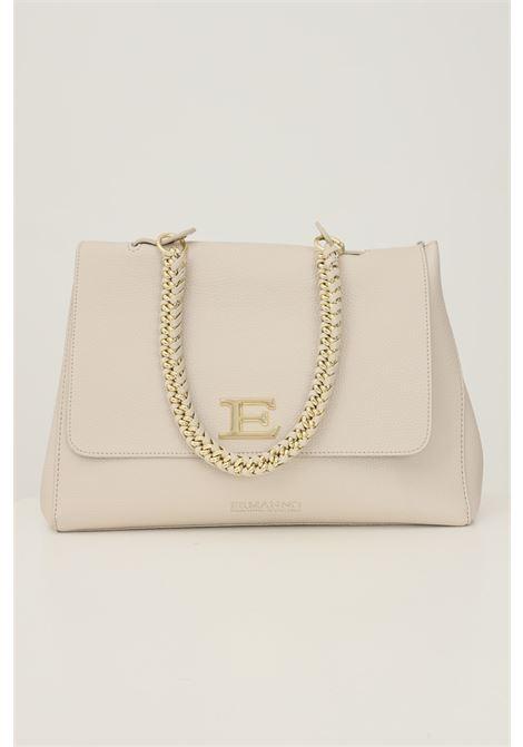 Beige women's flap bag by ermanno scervino with removable logo shoulder strap Ermanno scervino | Bag | 12401225003