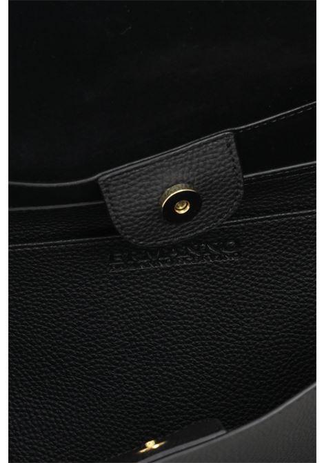 Black women's flap bag by ermanno scervino with removable logo shoulder strap Ermanno scervino | Bag | 12401225293
