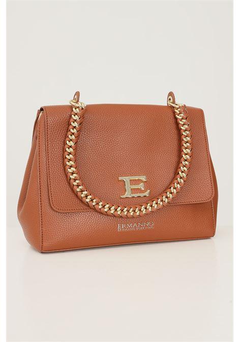 Cowhide women's flap bag by ermanno scervino with removable logo shoulder strap Ermanno scervino | Bag | 124012262244