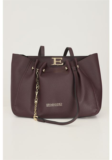 Burgundy women's bag by ermanno scervino with fixed handles Ermanno scervino | Bag | 124012362765