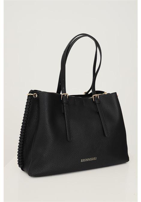 Black women's bag by ermanno scervino with side braids Ermanno scervino | Bag | 12401239293