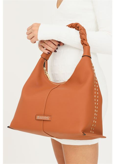 Cowhide women's bag by ermanno scervino with braided handle Ermanno scervino | Bag | 124012502244