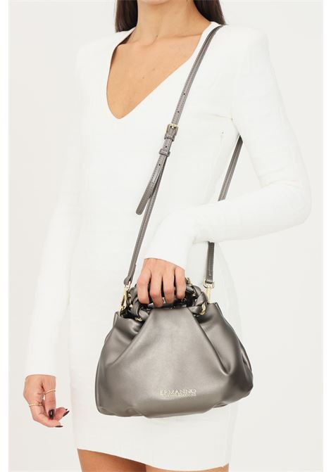 Silver women's bag by ermanno scervino with adjustable and removable shoulder strap Ermanno scervino | Bag | 124012541064