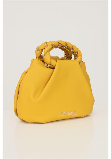 Mustard women's bag by ermanno scervino with adjustable and removable shoulder strap Ermanno scervino | Bag | 124012542556