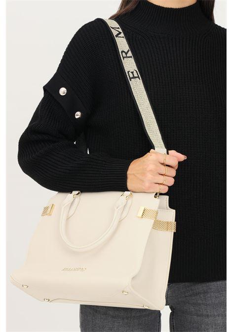 Cream women's bag by ermanno scervino with removable fabric shoulder strap Ermanno scervino | Bag | 124012792609