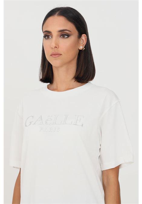 T-shirt donna bianco gaelle a manica corta con logo frontale GAELLE   T-shirt   GBD10158BIANCO