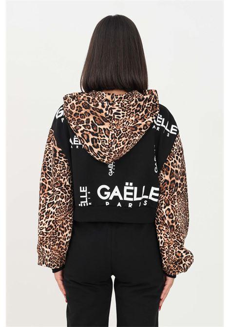 Black women's hoodie by gaelle GAELLE | Sweatshirt | GBD10176NERO