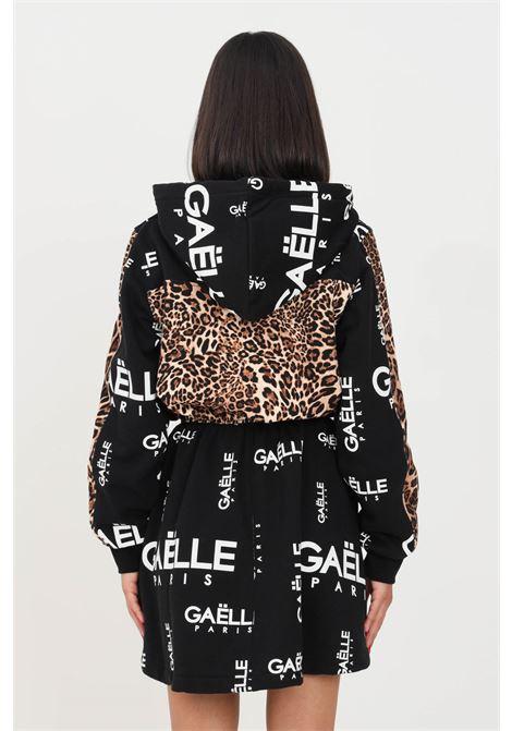 Black dress by gaelle with full lenght zip short cut GAELLE | Dress | GBD10181NERO