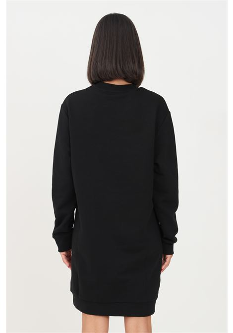 Black dress by gaelle short model with embossed logo on the front  GAELLE | Dress | GBD10221NERO