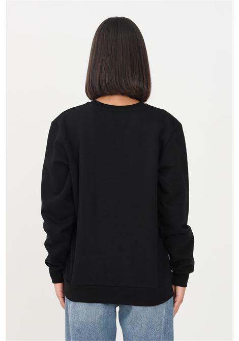 Black women's sweatshirt by gaelle crew neck model GAELLE | Sweatshirt | GBD10222NERO
