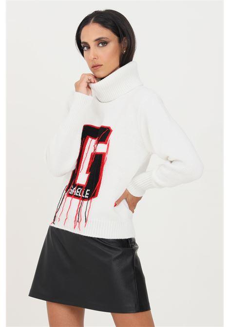 White women's sweater by gaelle paris high neck model GAELLE | Knitwear | GBD10328BIANCO