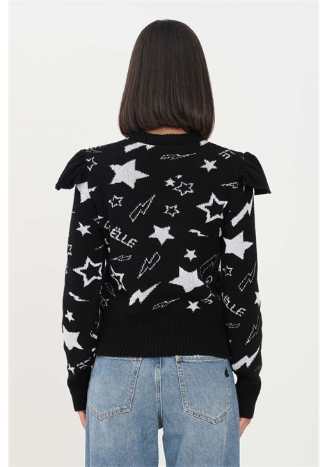 Black gaelle paris sweater with shoulder pads GAELLE | Knitwear | GBD10334NERO